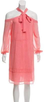 MICHAEL Michael Kors Cold-Shoulder Printed Dress