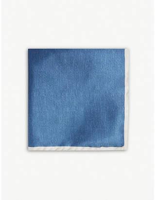 OSCAR JACOBSON Plain silk pocket square