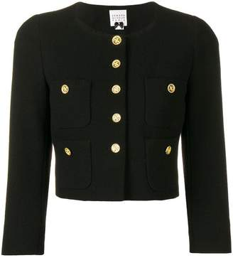 Edward Achour Paris fitted cropped jacket