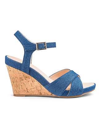 59d7c1036b0 Heavenly Soles Flexible Wedge Sandals E Fit