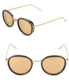 Linda Farrow Luxe 51MM Oval Sunglasses