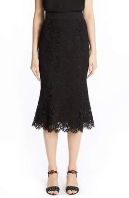 Dolce & Gabbana Fluted Hem Lace Skirt