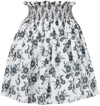 Miu Miu floral printed high-waisted skirt