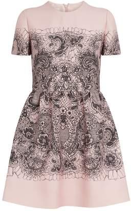 Valentino Lace Print A-Line Dress