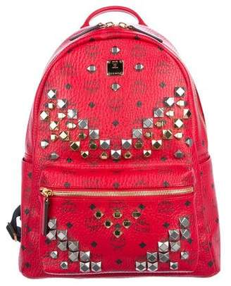 MCM Visetos Stark Embellished Backpack