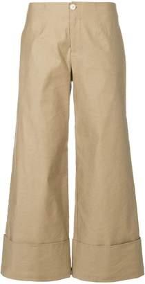 Steffen Schraut wide leg cropped pants