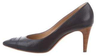 Chanel CC Pointed-Toe Pumps