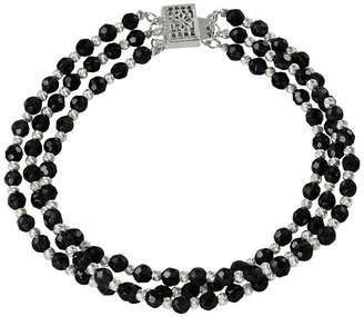JCPenney FINE JEWELRY Onyx & Sparkle Bead 3-Strand Bracelet