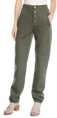 Rag & Bone Sailor Wool-Blend Sweatpants with Exposed Fly