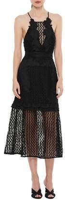 LA MAISON TALULAH Sweet Dreams Crochet A-Line Dress