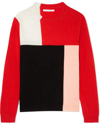 Chinti and Parker Luis Casa Color-block Cashmere Sweater - Red