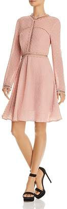 Bardot Cherie Long-Sleeve Embroidered Dress