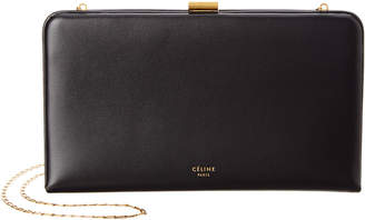 Celine Large Leather Wallet On Chain