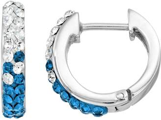 Kentucky Wildcats Crystal Sterling Silver Huggie Hoop Earrings