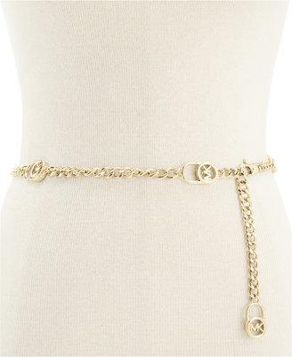 MICHAEL Michael Kors Hamilton Lock Chain Belt $45 thestylecure.com