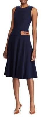Lauren Ralph Lauren Double-Buckle Jersey Dress