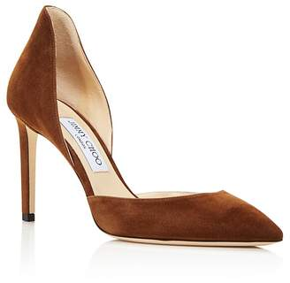 Jimmy Choo Women's Liz 85 Suede d'Orsay High-Heel Pumps