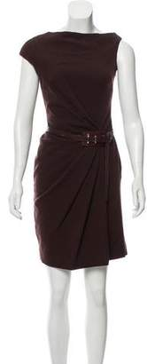 Kaufman Franco KAUFMANFRANCO Wool Belted Dress