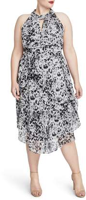 Rachel Roy Chiffon Midi Dress