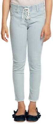 Dex Girl's Striped Tie-Front Pants