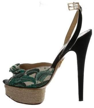 Charlotte Olympia Canvas Platform Sandals