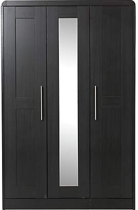 Heart of House Elford 3 Door Mirror Wardrobe - Black