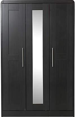 Argos Home Elford 3 Door Mirror Wardrobe - Black