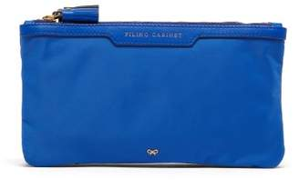 Anya Hindmarch Filing Cabinet Clutch - Womens - Blue