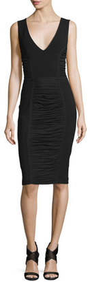 Diane von Furstenberg Alannah Shirred-Panel Sheath Dress $468 thestylecure.com