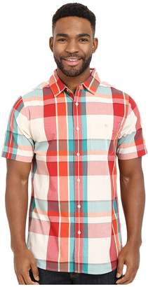 The North Face Short Sleeve Exploded Plaid Shirt Men's Short Sleeve Button Up