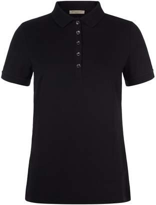 Burberry Check Detail Polo Shirt