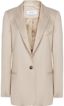 Reiss Freja - Boyfriend Fit Blazer in Neutral