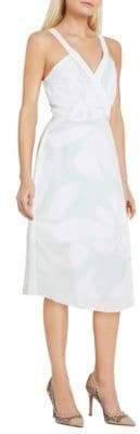 BCBGeneration Faux Surplice Floral Column Dress