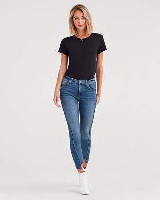 7 For All Mankind High Waist Ankle Skinny with Zipper Angled Seams in Canyon Ranch