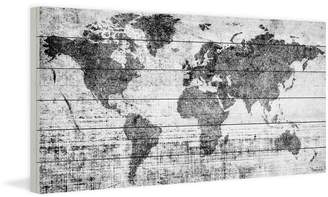 Parvez Taj Trent Austin Design 'Lost In The World' by Painting Print on White Wood