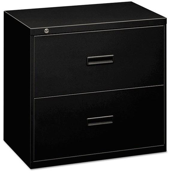 HON 400 Series Black 30 x 19 1/4 x 28 3/8 2-drawer Lateral File