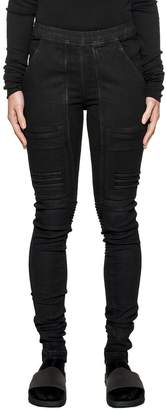 Drkshdw Black Nagaskin Waxed Denim Leggings
