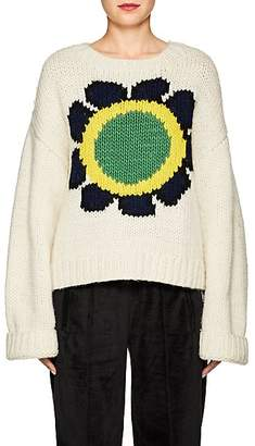 Opening Ceremony Women's Floral Intarsia-Knit Sweater - Ivorybone