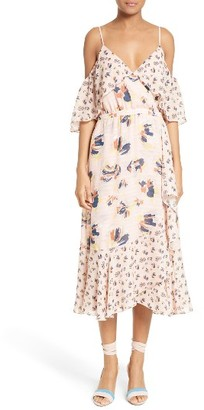 Women's Tanya Taylor Amylia Abstract Floral Print Silk Dress $595 thestylecure.com
