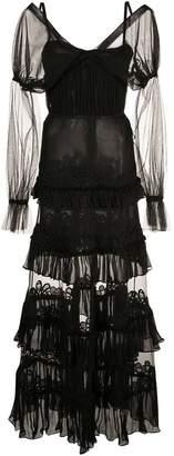 Jonathan Simkhai lace tulle ruffle dress