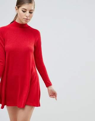 AX Paris High Neck Long Sleeve Sweater Dress