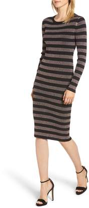 MICHAEL Michael Kors Metallic Stripe Sweater Dress