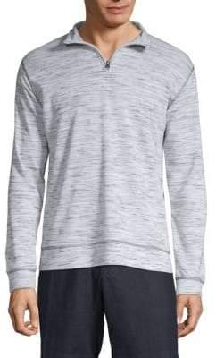 Jacquard Quarter Zip Sweater