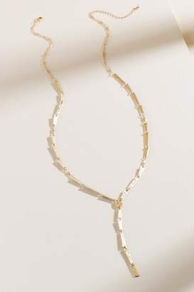 francesca's Cariss Hammered Metal Y Necklace - Gold