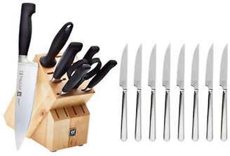 Zwilling J.A. Henckels Four Star Eight-Piece Knife Block And Bonus Steak Knife Set