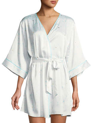 Kate Spade Dotted Satin Bridal Robe