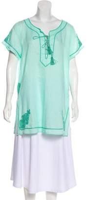Calypso Lace-Up Embellished Tunic