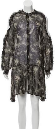 The Kooples Long Sleeve Birdy mini Dress