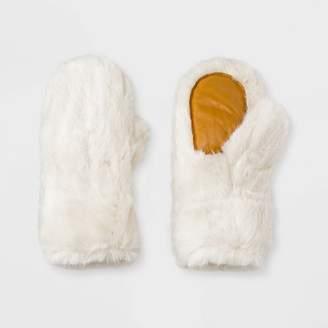 Universal Thread Women's Faux Fur Mittens
