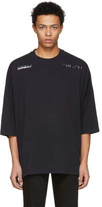 Unravel Black Jersey Racing Boxy T-Shirt